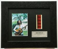 More details for bob marley signed reproduction limited edition original filmcell memorabilia coa