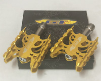 GT Wings BMX Bicycle Bike Alloy Pedals 9/16 Flat-Platform NOS Gold