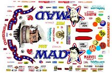Dale Creasy Vote Mad Firebird Funny Car 1/43rd Scale Slot Car Waterslide Decals