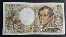 FRANCE - FRANCIA - FRENCH NOTE - BILLET DE 200 FRANCS MONTESQUIEU 1990 TTB.