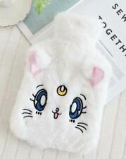 sailor moon white fuzzy keep warm Hot Water Bottle & Cover handbag model new