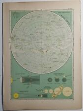 The Heavens - Southern Hemisphere Celestial Star and Solar System Map 1897