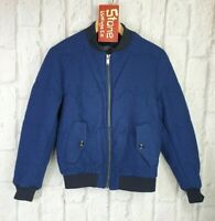 Levis Made & Crafted Blue Mountain Puffa Bomber Baseball Padded Jacket M 2 £310