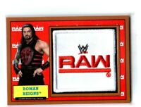 WWE Roman Reigns 2017 Topps Heritage Bronze Raw Com Patch Relic Card SN 75 of 99