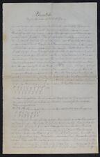 A. schering, acústica-alemana escritura a mano en papel para 1910 manuscritos