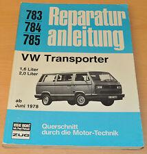 VW Transporter T3 1,6l 2,0l ab Juni 1978 Bully Bulli Reparaturanleitung B783