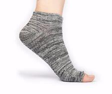 Free Toes No Slip Yoga, Pilates, Barre Socks - Gray/Black - Toeless, Regular