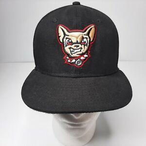 New Era El Paso Chihuahua 59 Fifty Fitted Hat SZ 6 7/8 Cap Black