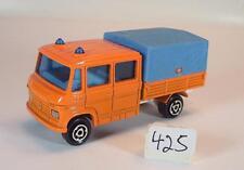 Majorette 1/70 Nr. 233 Mercedes Benz LKW Pritsche/Plane Trax Publics Nr.1 #425
