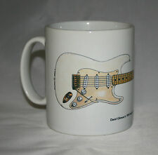 Guitar Mug. David Gilmour's 0001 Fender Stratocaster Illustration.