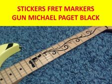 STICKER INLAY GUN BLACK MICHAEL PAGET BULLET FOR MY VALENTINE CUSTOMIZED GUITARS