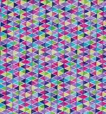Topsy Turvy Bright Purple Pink Green Blue Triangle Stripe Baby Quilt Fabric