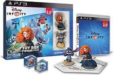 Disney Infinity 2.0 Toy Box Starter Pack Sony PlayStation 3 PS3 Merida Stitch