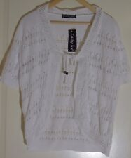 Lady Ice White Cardigan with Pattern (Size: UK L/XL)