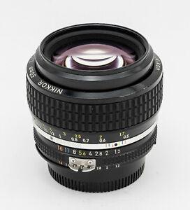 Nikon NIKKOR AI-S 50mm F/1.2 Lens manual focus standard prime vintage GOOD