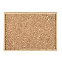 Indigo Noticeboard Cork with Pine Frame, - [W 900 x H 600 MM]