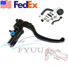Black CNC Motorcycle ATV Master Cylinder Cable Clutch Radial Brake Pump Right X1