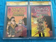 Strangers in Paradise v3 #16 reg var set -Abstract -CGC SS 9.8 9.2 -Sig by Moore