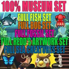 Animal Crossing:New Horizons ALL Fish Shark Insect Bug Art Sea Creature Museum