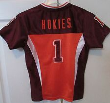 Virginia Tech Hokies Football #1 Jersey Youth Small Licensed by Colosseum