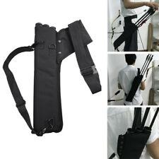Archery Arrow Quiver Holder 3 Tube Back Waist Shoulder Strap Bag Pouch Hunting-V