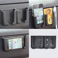 Universal-Car interior Phone Pen Organizer Storage Bag Box Holder Black Cradle