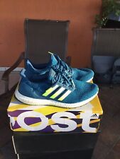 Adidas Ultra Boost 4.0 Mens Running Shoes Blue Hi Res Yellow F35234 Mens 10.5 M