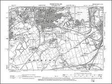 Jarrow, Hebburn east, old map Durham 1899: 3SE repro