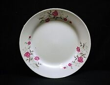 """Old Vintage Victorian Rose by Northridge 9-7/8"""" Dinner Plate Pink Roses Gold Trm"""