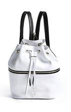NWT GUESS $98 Jerry Zip Backpack Hobo Handbag White