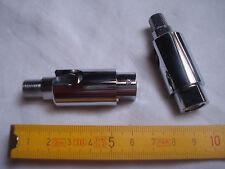 1 rotule en laiton chromé 90 degrés et 360 degrés , pas 10 x 1 mm, 14 kg (réf D)