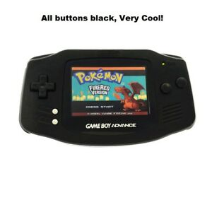 Whole Black Game Boy Advance Console GBA AGS-101 Backlight Backlit Screen