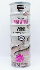 6 Cans Kirkland Signature Sauvage Alaska Rose Saumon Invertébré sans Peau 1065ml