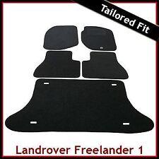 Land Rover Freelander Mk1 1997-2006 Tailored Carpet Car Floor & Boot Mats BLACK