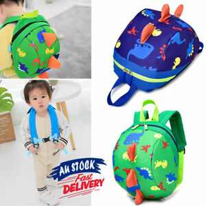 Cartoon Dinosaur Toddler Bag with Strap for kids Safety Harness Backpack Reins