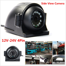 12-24V 4Pin Bus Trailer CCD IR Night Vision Car Side View Camera Truck 12 IR LED