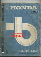 Honda CF70 Chaly (73-77) Genuine Parts List Catalogue Manual Book CF 70 50 CC97