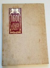 1601 by Mark Twain. Colophon by Franklin J. Meine 1939 personal copy unnumbered