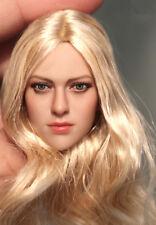 "KIMI TOYS KT004 1:6 Gold Hair Girl Head Sculpt F 12"" Female Suntan Figure Model"