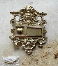 Geschenknet Antik Messing Klingel 1 Klingelschild Klingelplatte  K27P