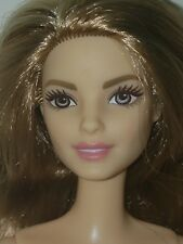 NUDE TALL BARBIE  DOLL STRAWBERRY  BLONDE HAIR W/ HIGHLIGHTS AMBER EYES