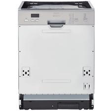 PKM Einbau Geschirrspüler Spülmaschine teilintegriert Edelstahl 60 cm EEK: A++