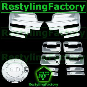 09-14 Ford F150 Chrome Mirror+4 Door Handle+no keypad+no PSG keyhole+Gas Cover