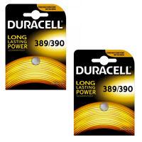 2 x DURACELL 389 390 BATTERY D390 WATCH BATTERIES SR54 V390 SR1130SW