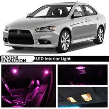 8x Pink Interior LED Lights Package for 2007-2015 Lancer Evolution X