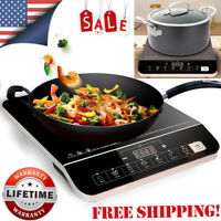 1800W Electric Single Induction Cooker Portable Burner Cooktop Digital Hot Plate