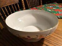"JLmenau Hennberg Porzellan Large Floral Serving Bowl 9 3/4"""