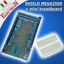 Scheda ARDUINO MEGA ProtoShield V3 MEGA2560 + mini breadboard 170 fori