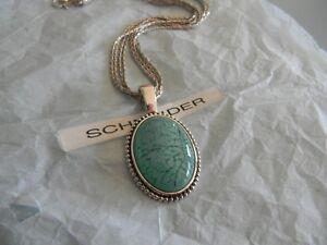 Premier Designs COZUMEL SILVERADO  turquoise acrylic necklace RV $52 free ship