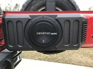 "Jeep Box Pro 2007-18 Jeep Wrangler JK/JKU 12"" Tailgate Box Subwoofer Enclosure"